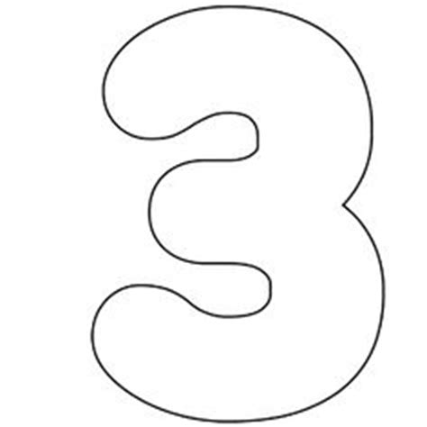 number 3 template printable number 9 outline numeros