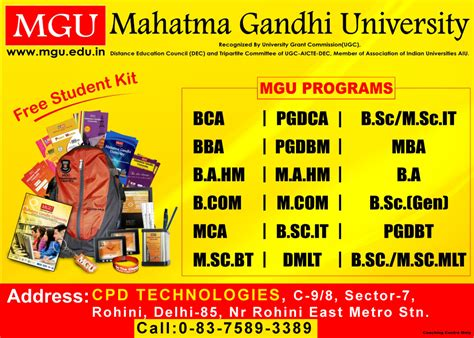 Mgu Mba Syllabus by Mahatma Gandhi Admission Open Cpd Technologies
