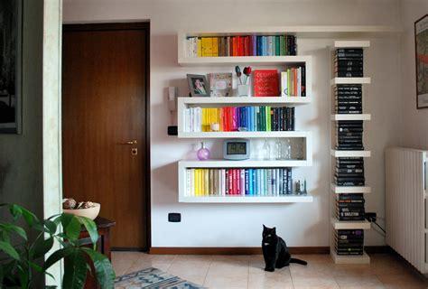libreria mensole libreria a zig zag recreathing