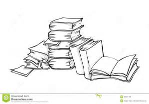 Pile Of Books Colouring Pages Page 2 sketch template