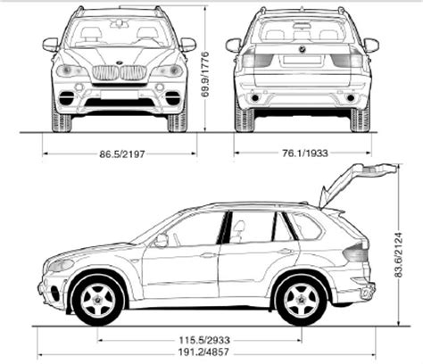 Bmw X5 Interior Dimensions by Dimensions Technical Data Reference Bmw X5 Owners