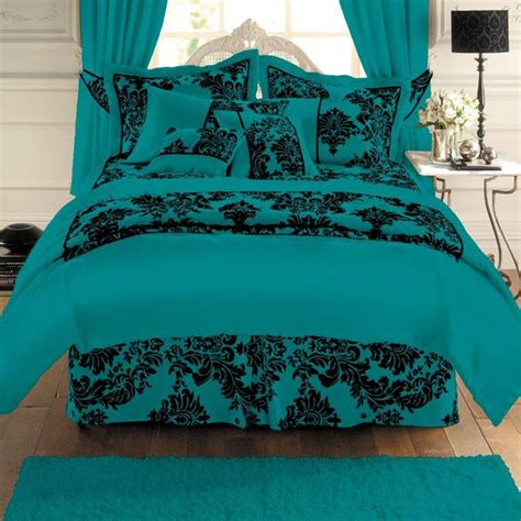 teal and black bedding reanimators