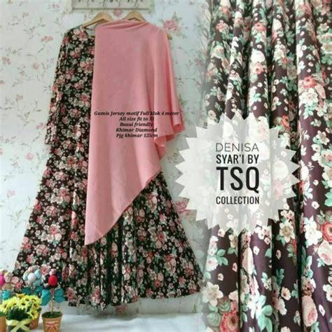 Gamis Motif Leopart Coklat gamis modern b083 denisa syar i motif bunga baju muslim