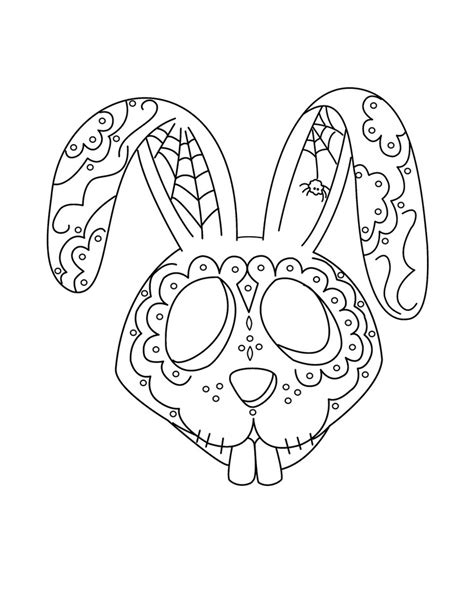 dia de los muertos coloring sheets coloring pages