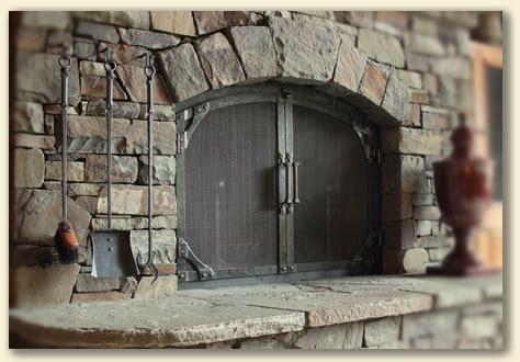 built in fireplace screens wrought iron fireplace doors ponderosa forge ironworks