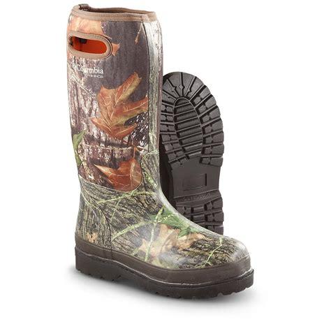 mossy oak boots columbia 174 14 quot homestead waterproof mossy oak 174 camo rubber
