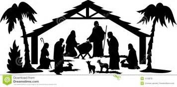 nativity silhouette eps royalty free stock photos image