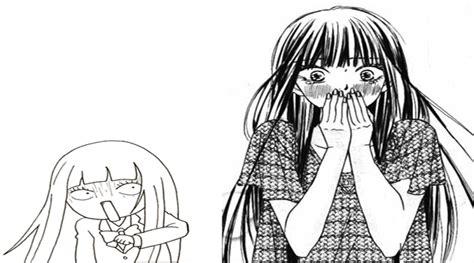 imagenes anime en blanco y negro en blanco y negro de drama romance y la escuela anime