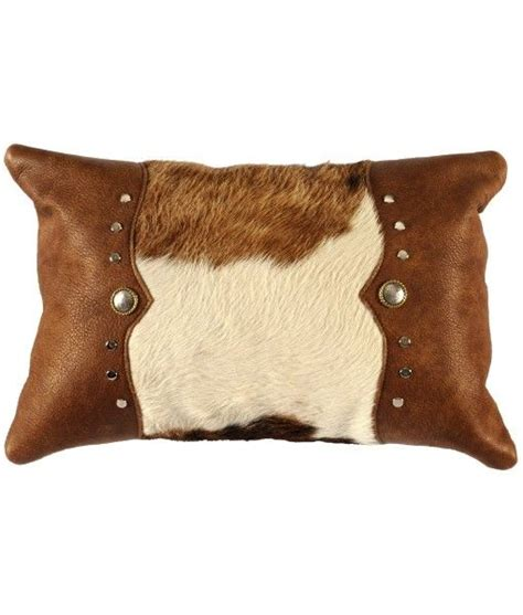 Western Cowhide Pillows - cowhide and leather throw pillow for western decor make