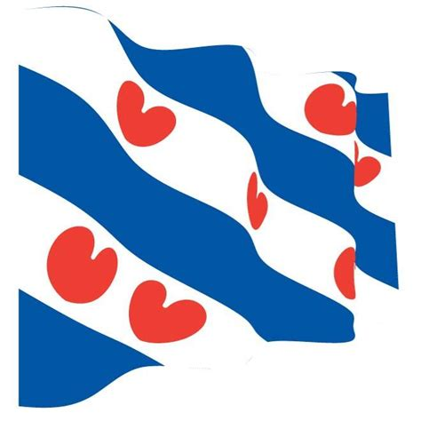 Frisian Flag wavy flag of friesland at vectorportal