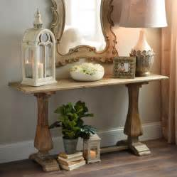 Distressed Entryway Table Distressed Pedestal Console Table Wooden Trestle Table Trestle Tables And Decor Styles
