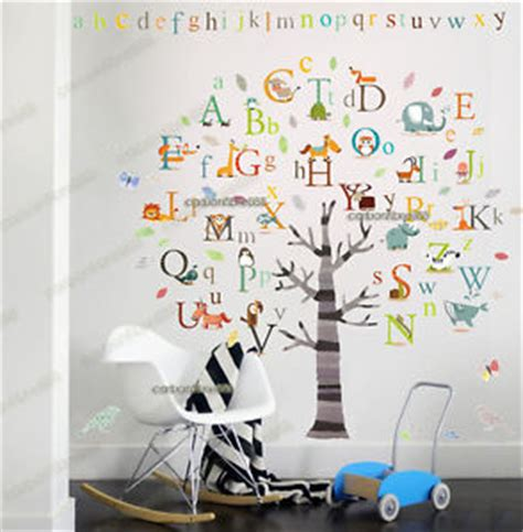 educational wall stickers nursery wall stickers alphabet ebay