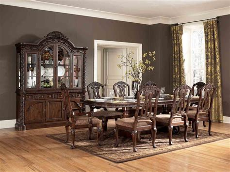 furniture dining rooms shore 9 pc pedestal extension table set by