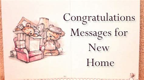 image gallery new home congratulations message