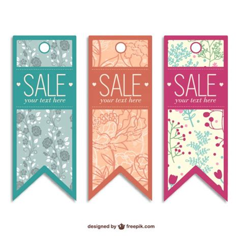 sale tags free templates vector free download