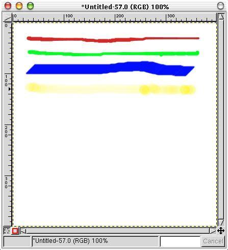 line pattern gimp brush selection