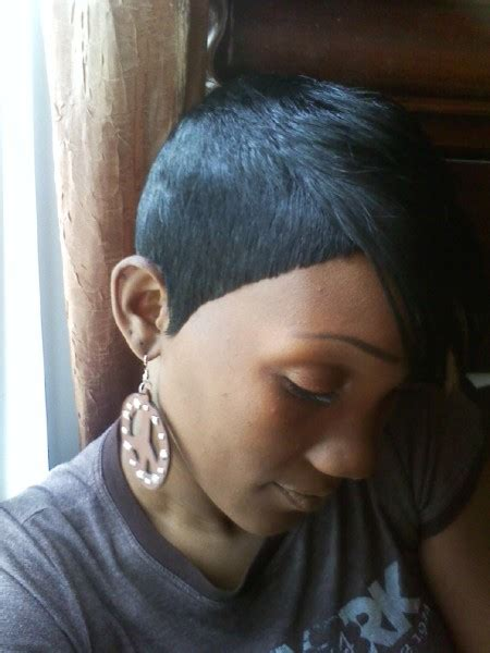 black bob hairstyles quick weave shondra s quick weave hairstyles side view thirstyroots