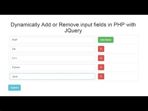 javascript remove pattern from string dynamically add remove input fields in php with jquery