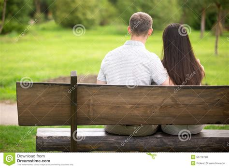 lovers on a park bench couple on park bench stock photo image of couple gentle