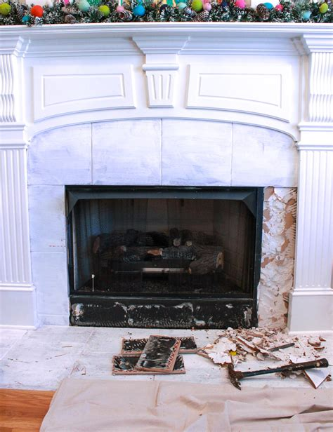 removing fireplace surround how to remove fireplace tiles chaotically creative