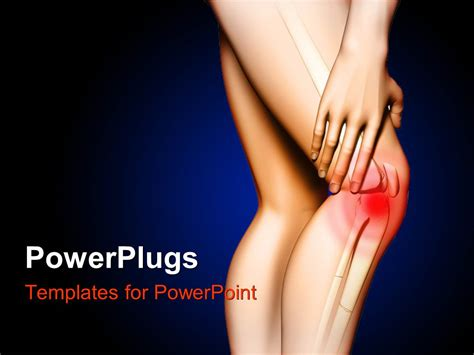 powerpoint templates knee powerpoint template pain in the knee hand touching the