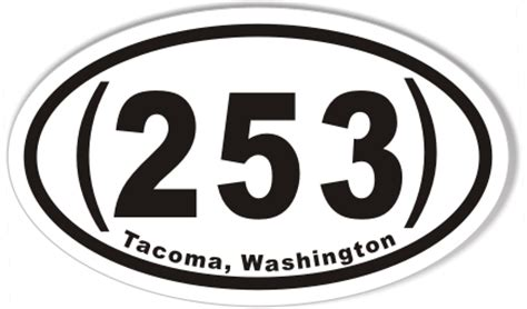 Sticker S 253 253 tacoma washington custom oval bumper stickers