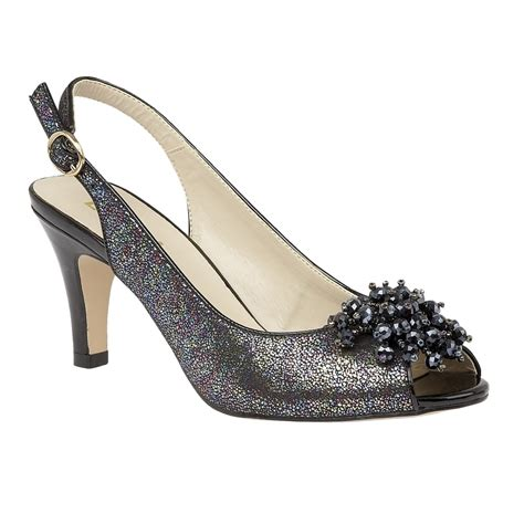 back shoes black metallic clematis sling back shoes lotus shoes