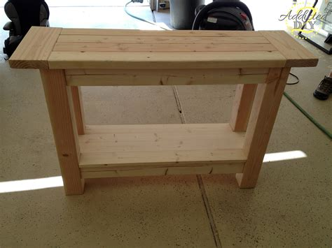 wood console table with storage unfinished custom diy wood outdoor console table with