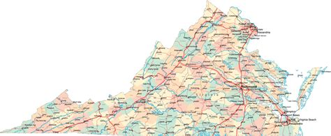 map virginia virginia road map va road map virginia highway map