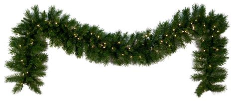 lighted christmas garland dunhill fir prelit led