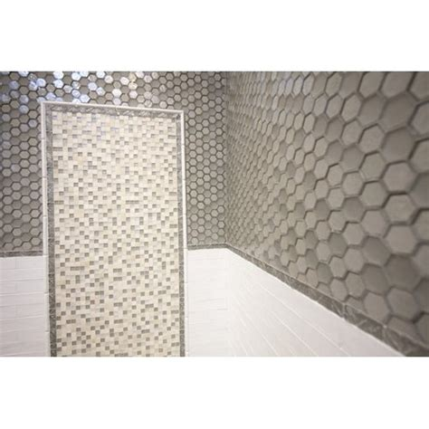 hexagon tile backsplash bathrooms