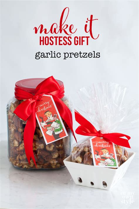 hostess gift garlic pretzels in my own style