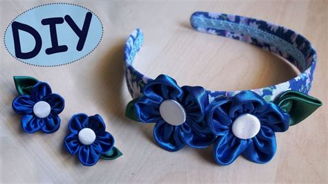 fiori di stoffa per capelli tutorial fiori in stoffa e cerchietto per capelli
