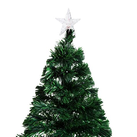 homcom christmas tree control homcom 5ft pre lit led optical fiber pine tree artificial d 233 cor with stand