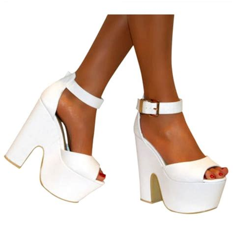 white wedge high heels white wedge heels with ankle