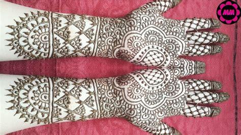 bridal henna design simple wedding mehendi full hand indian mehndi  bride diy easy