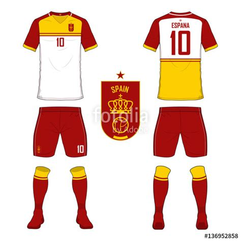 football jersey design vector quot set of soccer jersey or football kit template for spain