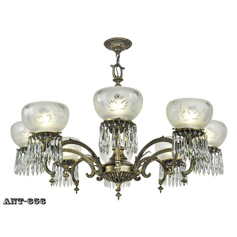 Edwardian 8 Arm Chandelier Large Ceiling Light Gasolier Style Ceiling Light Fixture