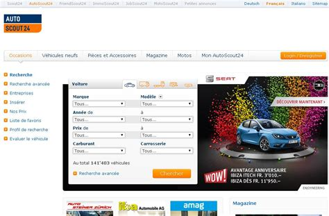 Autoscout Allemagne by Autoscout24 Ch Voiture Occasion Sheryl