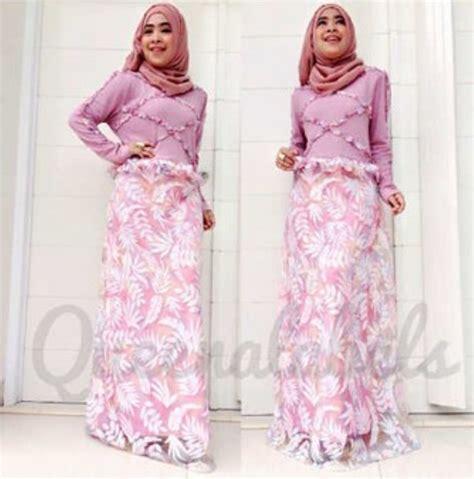 Gamis Pesta Queena vereline dress plum baju muslim gamis modern