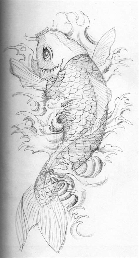 tattoo koi drawing koi sketch by umfdidumf on deviantart
