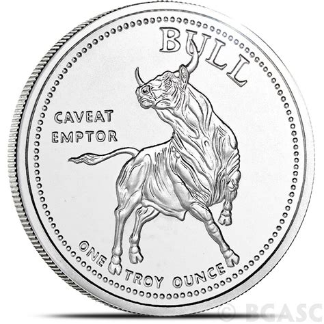1 oz silver rounds buy 1 oz silver bull market rounds 999