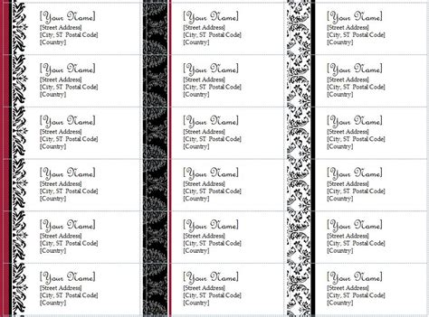 doc 590779 free printable holiday address labels