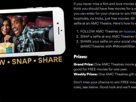 Amc Sweepstakes 2017 - amc theatres movies for a year sweepstakes