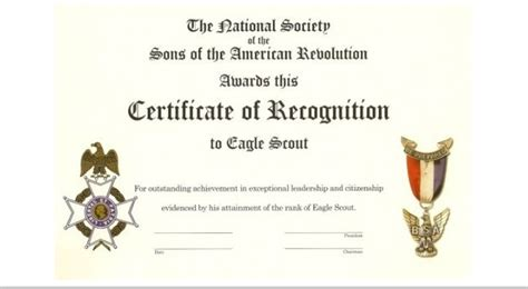 eagle scout certificate template vassar eagle scout program