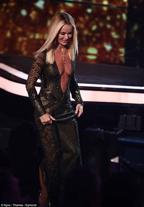 Dress Amanda amanda holden flaunts cleavage in a plunging gown for bgt