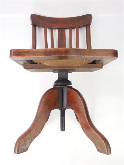 small antique edwardian swivel desk chair