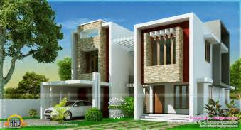 modern villa plans modern villa design in 2275 square feet kerala home