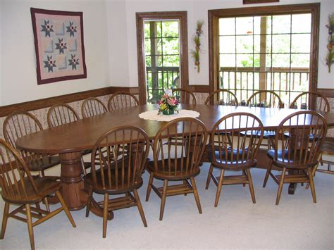 unique dining room table w chairs northwood auctions