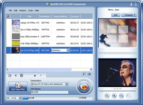 converter to avi imtoo avi to dvd converter